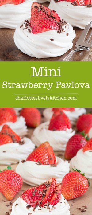 mini strawberry pavlova pin