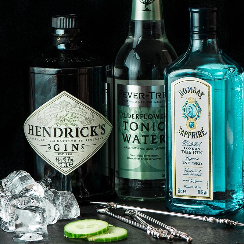 Bombay Sapphire and Hendrick's Gin 1