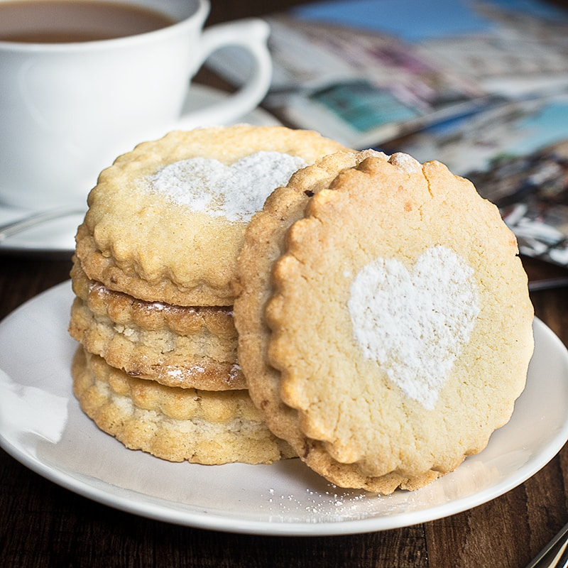 My take on the traditional maltese figolli biscuit - Lemon and orange blossom biscuits sandwiched with a delicious almond filling.