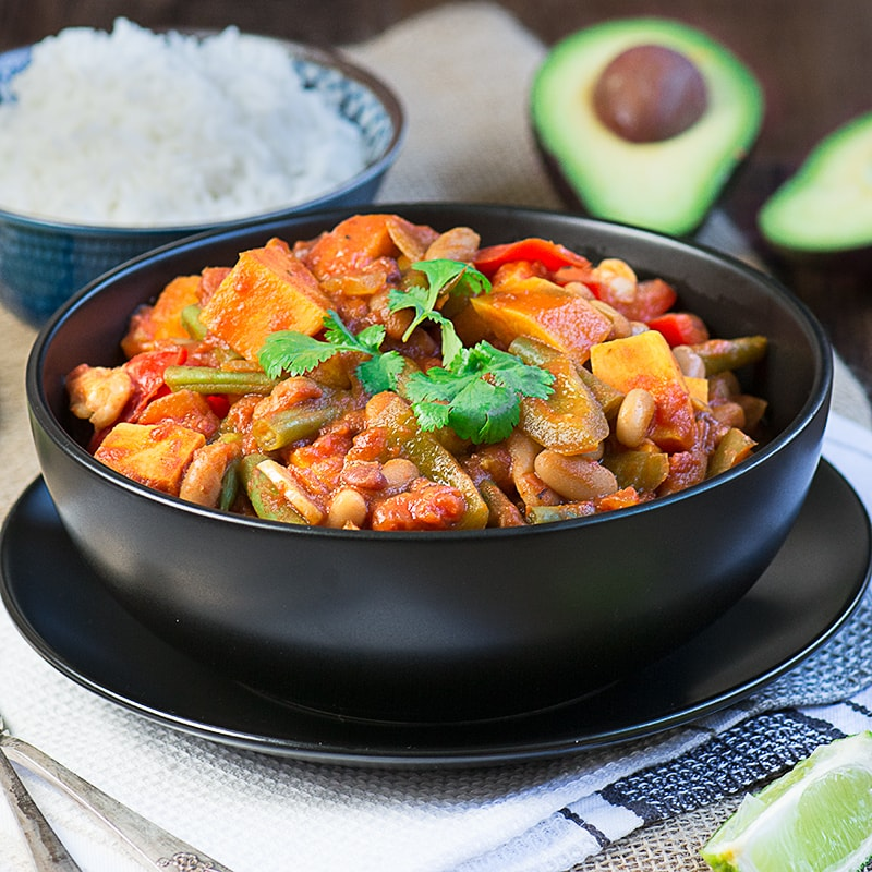 A delicious, vegan chilli, loved by all the family. Absolutely packed full of vegetables to give you (almost) all of your 5-a-day in one go, and low in calories.