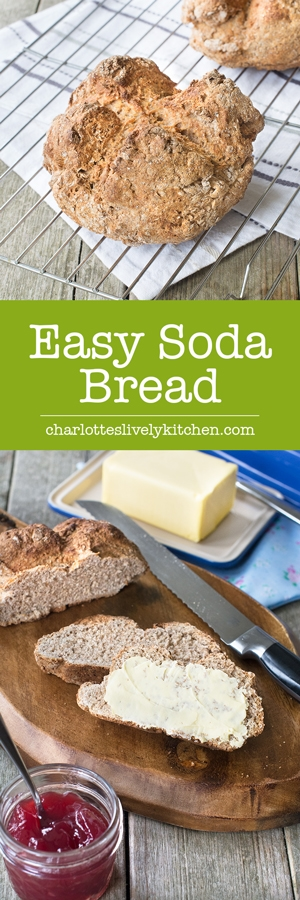 Irish soda bread is so easy to make with no kneading or proving, perfect for getting children involved in the kitchen and it tastes delicious dipped in soup or smothered in butter and jam.