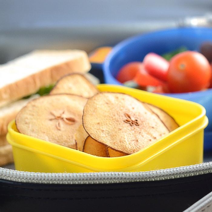 Pear crisps lunchbox