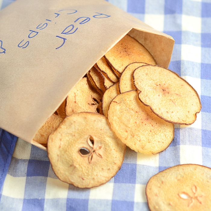 Pear crisps packet