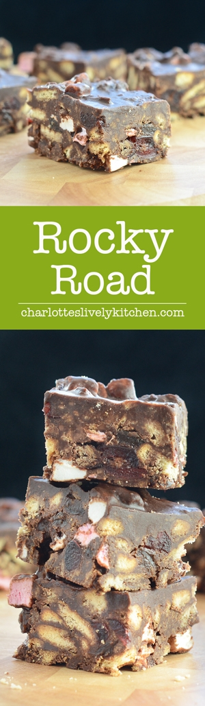 A scrumptious, indulgent and easy-to-make rocky road recipe.