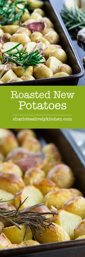 Roasted new potatoes with rosemary and garlic - Fluffy on the inside, crispy on the outside, really delicious and very simple to prepare.