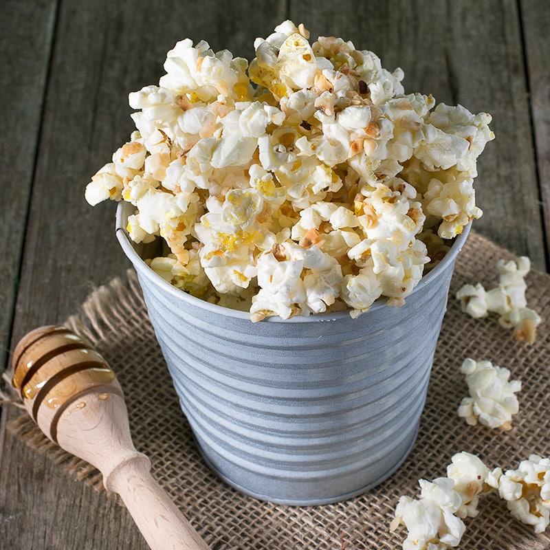 Honey and hazelnut popcorn.