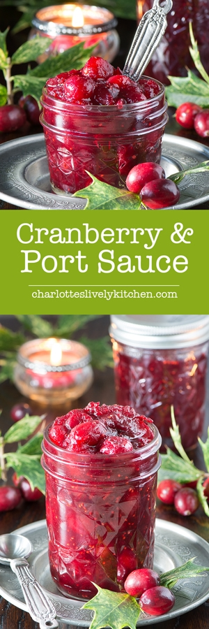Cranberry & Port Sauce, the perfect accompaniment to your Christmas turkey and unbelievably simple to make.