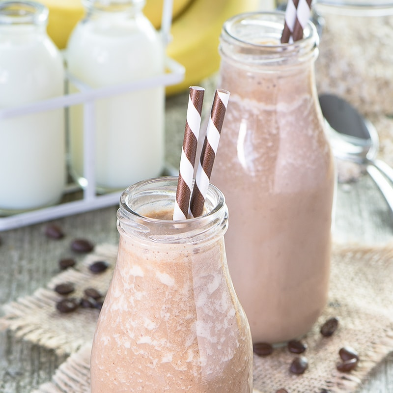 Kick start your morning with this delicious Coffee, Oat & Banana Smoothie - with coffee to wake you up and oats to keep your hunger away. You can enjoy it hot or really cold too, so it's perfect all year round.