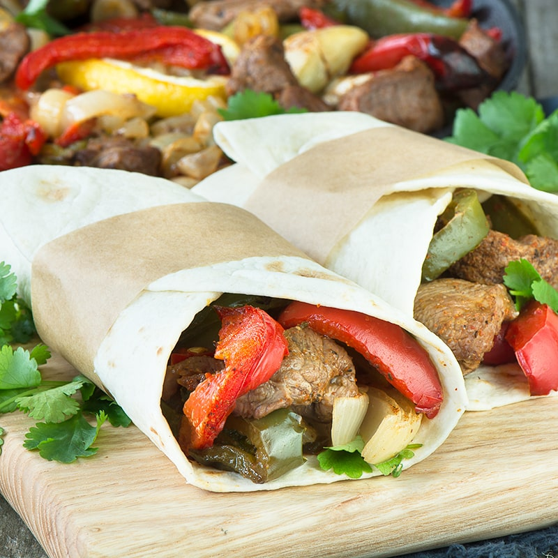 Switch to using lamb in your fajitas for a quick and tasty dinner. These lamb fajitas are oven baked, so they only need 10 minutes of your time and are ready in just half an hour.
