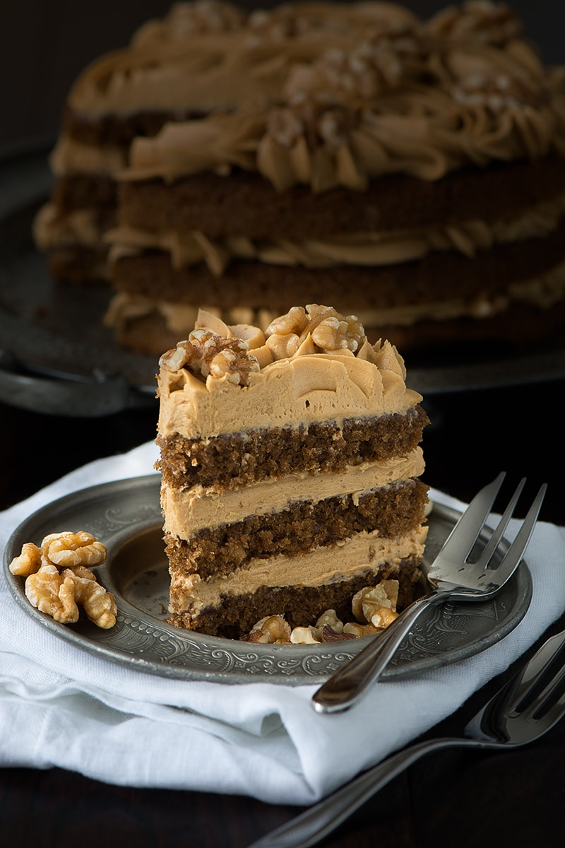 Coffee And Walnut Cake Charlotte S Lively Kitchen