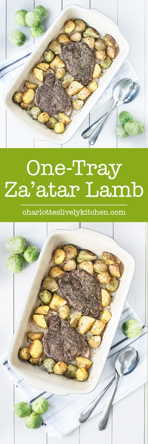 One-tray za'atar lamb - A delicious dinner made in one tray, with just 5 ingredients and 5 minutes of prep. What could be simpler?
