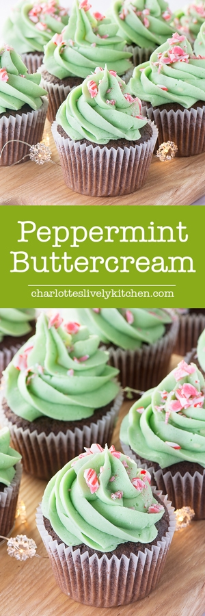 How to make delicious, smooth peppermint buttercream. Perfect for adding a festive twist to your cupcakes, layer cakes or macarons.