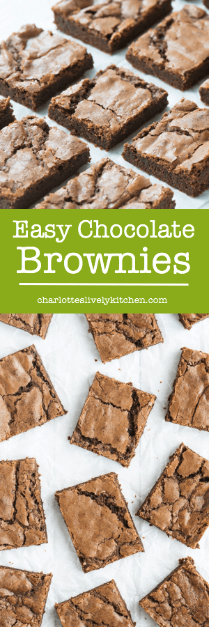 My recipe for easy homemade chocolate brownies that taste absolutely amazing. Includes step-by-step pictures.