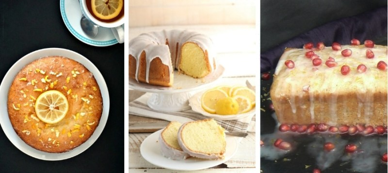 Lemon Drizzle Cake, Lemon Pound Cake and Vegan Lemon Drizzle Cake