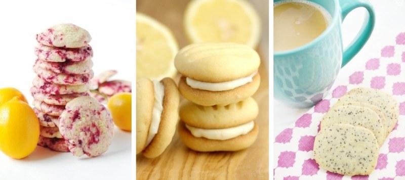 Lemon & Raspberry Cookies, Lemon Biscuits and Lemon & Poppy Seed Biscuits