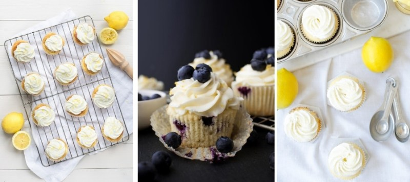 Splenda Cupcakes, Lemon & Blueberry Cupcakes and Lemon Curd Filled Cupcakes