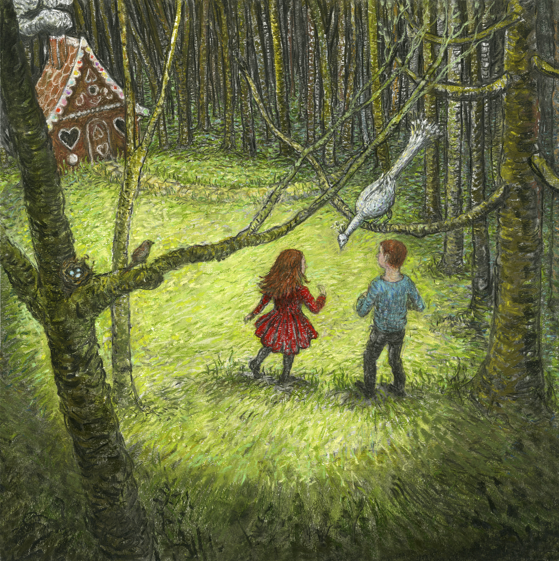 "Drawing from ""Hansel and Gretel"" by Artist Charlotte Steel"