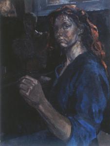 Artist Charlotte Steel Self Portrait