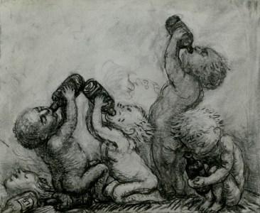Bad Babies drawing by Artist Charlotte Steel