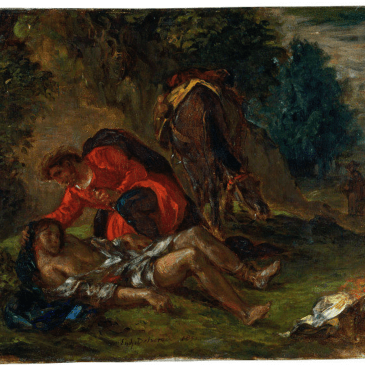 Oil painting by Eugène Delacroix