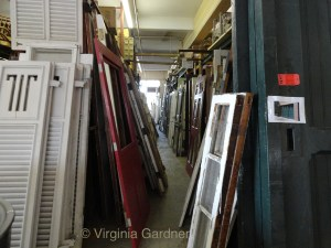 many various old doors and shutters