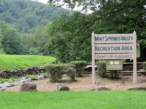 Mint Springs Park and sign