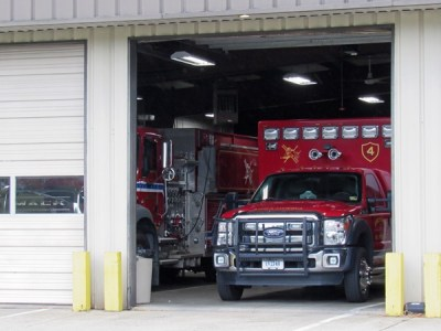 Fire trucks at the Earlysville Volunteer Fire Company