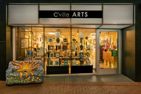 C'ville Arts Store Front on the Charlottesville Downtown Mall