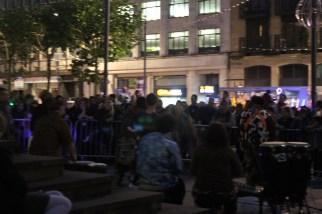 A kind of samba street music performance.