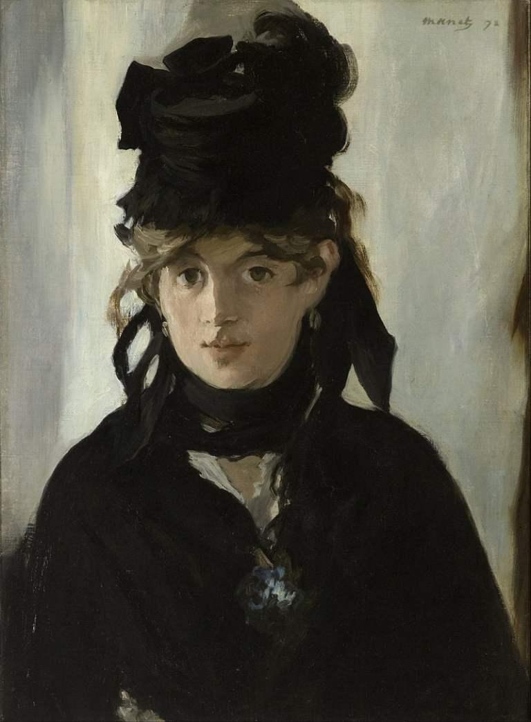 Edouard Manet Berthe Morisot With a Bouquet of Violets Google Art Project