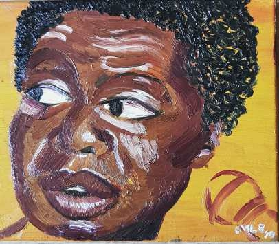 nina simone oil painting on canvas black female artist charlotte m l bailey charlottewithink