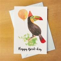 Toucan Bird-day card