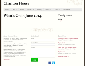 Charlton House - What's On In June