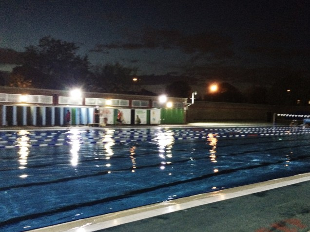 Moonlit swim at Charlton Lido