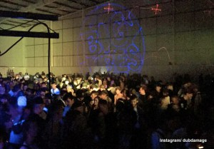 Saturday night's Charlton warehouse party
