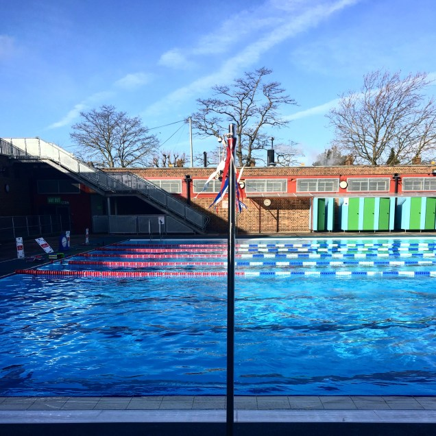 Charlton Lido in the sun