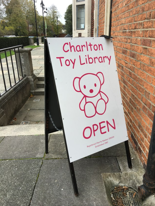Charlton Toy Library open sign