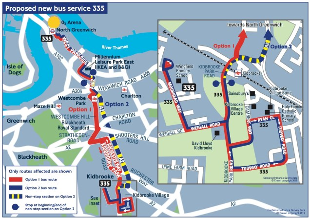 Route 335 map
