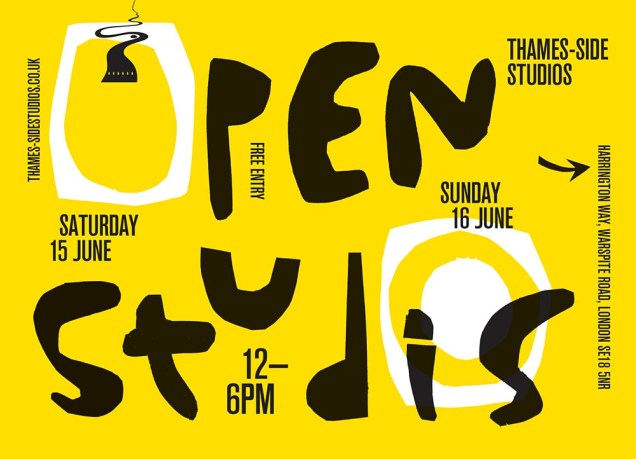 Thames-Side Studios Open Weekend Poster