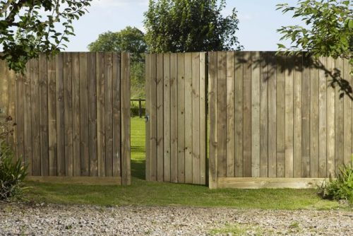 Gravel boards & feather-edge fencing