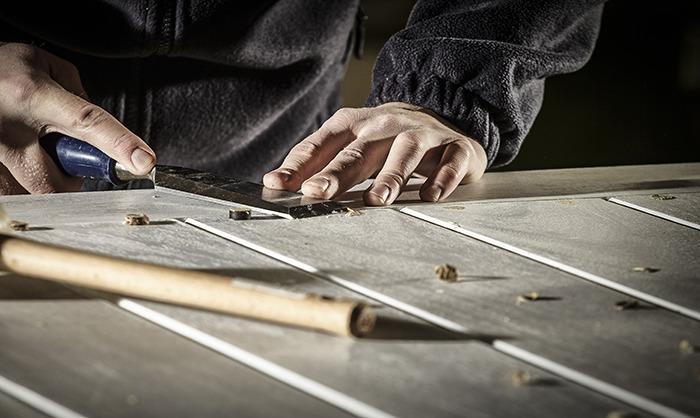 Hand assembles gate
