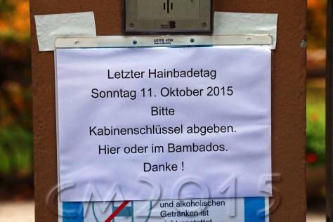 End of the season, Hainbadestelle Bamberg, autor: charlotte moser
