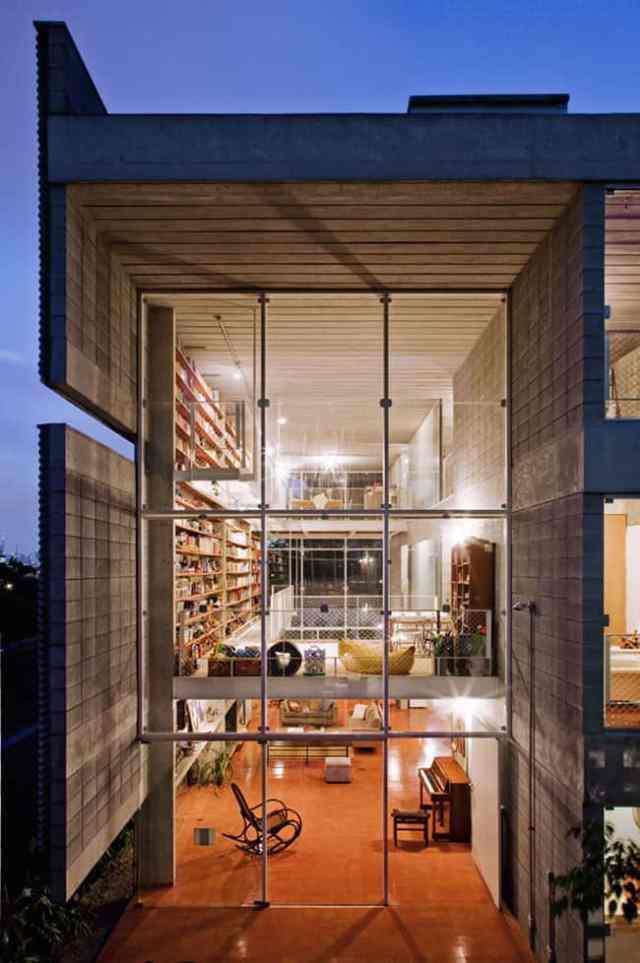 ケロシンハウス-GrupoPSによるモダンコンクリートの家(4)