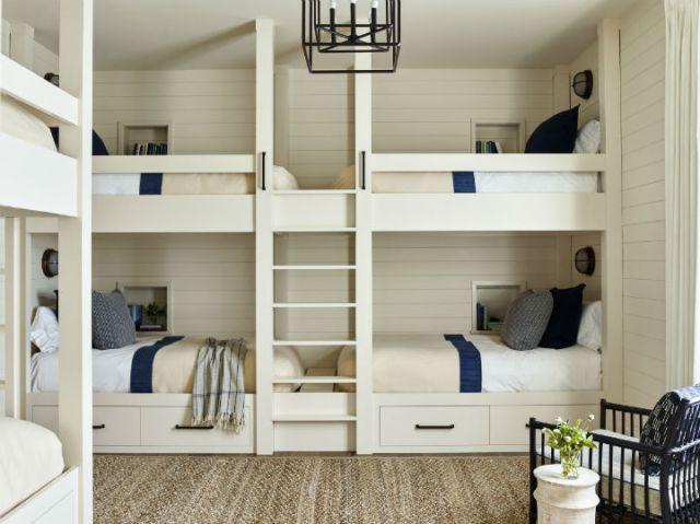 白と青の寝室のアイデア