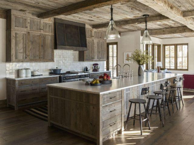 キャビネットと木製キッチン