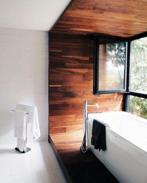 60.木製のオアシスバスルームを組み立てる