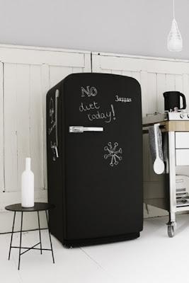 黒板ペイント冷蔵庫-DIY冷蔵庫変身