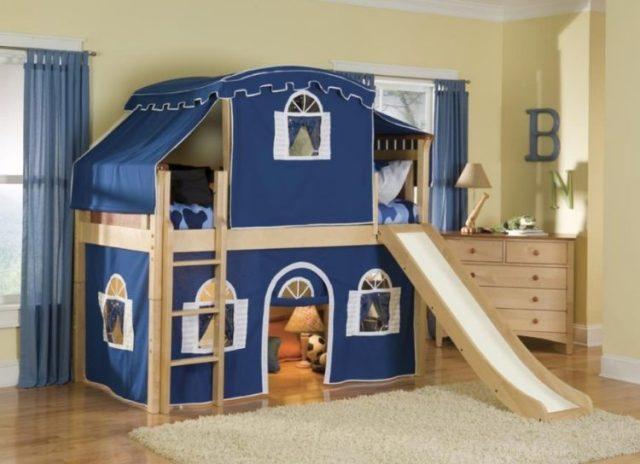 キッズビルトイン二段ベッドデザイン