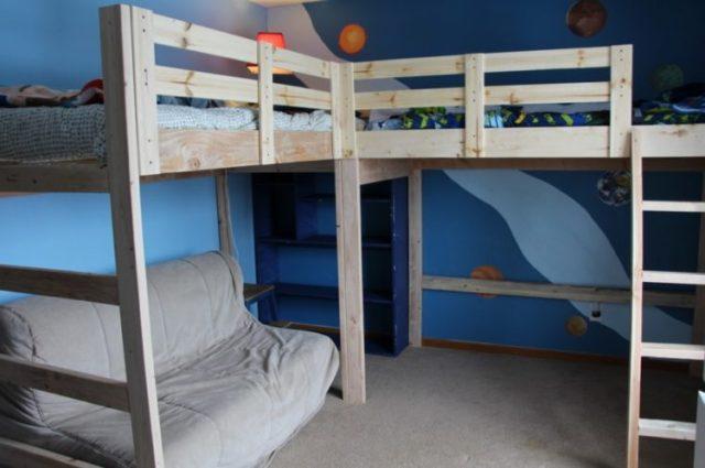 ビルトイン二段ベッドデザイン