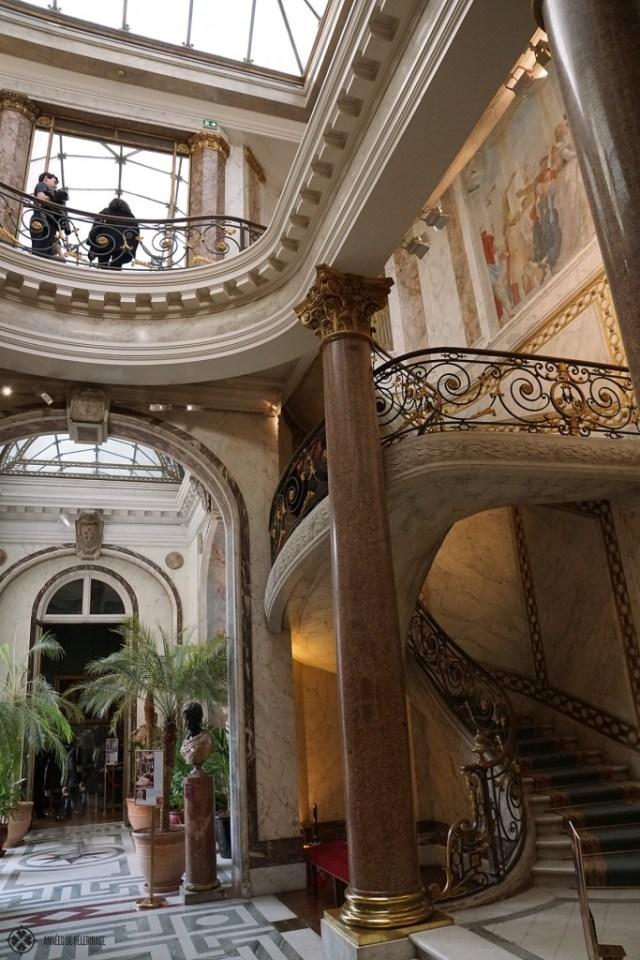 パリのジャックマールアンドレ美術館内のウィンターガーデン